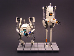 Atlas & P-Body Wedding Cake Toppers (Legohaulic) Tags: aperture lego science atlas portal commission pbody ashpd