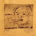 "<b>Der Maler</b><br/> Frans Wildenhain ""Der Maler"" Etching, 1932 LFAC # 768<a href=""http://farm8.static.flickr.com/7019/6852375053_3f17081bdb_o.jpg"" title=""High res"">∝</a>"