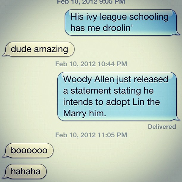 Never been happier with a tex exchange. #pjw366 #366project #LINSANITY