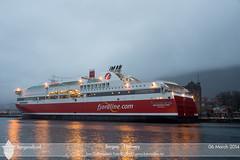 Bergensfjord (Tom McNikon) Tags: norway ferry bergen fjordline carferry passengership passengerferry bergensfjord cruiseferry