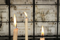 Easter Reflections (Magryciak) Tags: trip travel cruise light france reflection grave canon eos death marseille europe mood candle 2014