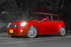 Mini Cooper JCW 2010 (agma06) Tags: red lightpainting color cars car night canon lights luces rojo colombia tripod mini 7d bmw minicooper kart rims 2010 lightroom nght jcw johncooperworks agma06
