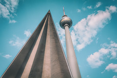 Berlin II (philippdase) Tags: city berlin fernsehturm tall tvtower lowangle nikond7100 sigma1835mm18 spring2016 philippdase