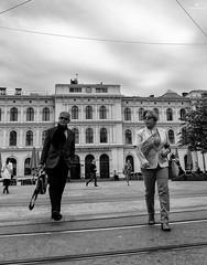 Street Photography, Oslo . X20 . (AKromatiCK) Tags: street people blackandwhite monochrome oslo norway noir noiretblanc streetphotography monotone nb bn fujifilm norvege bwphoto blackandwhitephoto photoderue scenederue bnwphotography monoart fujix20 fujifilmx20 fujifilmxseries