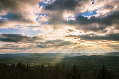 Rays through clouds (Ji Vesel) Tags: sun clouds landscape shine czechrepublic rays cz centralbohemianregion hudlice