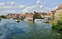 my town (Steffi-Helene) Tags: water architecture deutschland bavaria wasser bamberg rivers regnitz flsse worldheritageofunesco