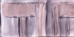 ihre Jugend hatten diese Sthle gesehen. Sie hatten gelacht und anderes hatten sie gar nicht mehr wissen wollen (raumoberbayern) Tags: city winter bus fall pencil paper munich mnchen landscape herbst tram sketchbook stadt papier landschaft bleistift robbbilder skizzenbuch strasenbahn