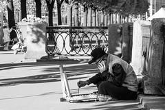 Speak and spell (Suicidal_zombie) Tags: street white black monochrome island artist russia chinese monotone saintpetersburg russie     vasilyevskiy