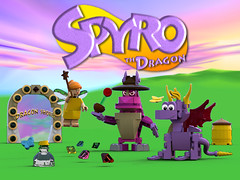 Spyro the Dragon - Main picture NEW (bradders1999) Tags: game classic station digital vintage project fire one 1 video support play dragon lego dragonfly designer egg barrel games retro gaming fairy fantasy ps1 theif videogame hunter portal vote ideas playstation insomniac sparx spyro moc ldd purist rhynoc