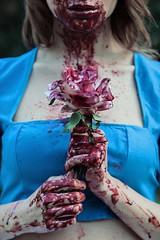 BLOODY ALICE series (DeboraDiDonato) Tags: detail colors canon project dark blood model mood dress alice gothic creative makeup creepy horror series concept bloody conceptual ddd concettuale modella deboradidonato