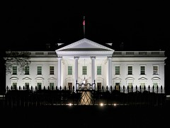 White House (Matthias Harbers) Tags: city blue light sunset sky usa white building lamp night photoshop canon 1 evening dc washington inch whitehouse powershot elements labs dxo residence topaz superzoom 1inch g3x