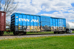 pan am (contemplative imaging) Tags: railroad car wisconsin cn train point landscape outdoors am spring nikon warm day transport stevens may overcast trains canadian ron national imaging boxcar pan siding monday dslr zack tamron contemplative wi 18200 freight railroads mec 2016 wisc 31965 d7000 tam18200dx ciwisc20160503d70009 20160503