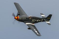 USAAF North American P-51B Mustang 43-24823/NL551E 'B6-S' (Hugh Dodson) Tags: saturday ypsilanti mustang b6s willowrun northamerican usaaf p51b nl551e thunderovermichigan2015 4324823