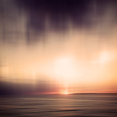 Blazing Dawn (Bruus UK) Tags: ocean morning light sea sky sun seascape abstract blur clouds sunrise dawn coast marine cornwall waves alone horizon atlantic serene stives