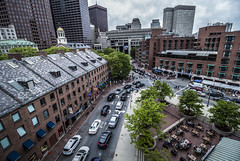 Faneuil Hall / Haymarket (TomBerrigan) Tags: city streets boston hall traffic market massachusetts mass haymarket faneuil