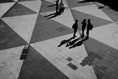 Triangles (maekke) Tags: shadow bw travelling pattern shadows noiretblanc sweden stockholm streetphotography highcontrast tourist fujifilm 2016 x100t