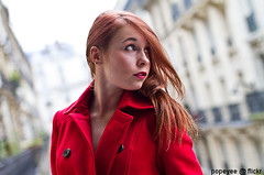 Street Portraits (11/11/11) (Popeyee) Tags: pictures nov street november red portrait people paris france cute girl beautiful beauty hair french photography photo women europe flickr gallery european foto photographer dress image photos young picture images jacket fotos 11th bild 111111 2011 popeyee gifrancenov