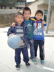 Young Chinese Basketball Players (ToGa Wanderings) Tags: china school mountain boys students basketball youth asia village south chinese young culture age players guizhou miao simple ethnic minority province elementary architecure xijiang baibi