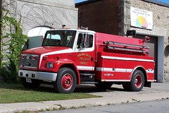 SFFD Unit 35 1993 Freightliner FL80 Almonte Fire Truck 300/1600 Smiths Falls, Ontario Canada ©Ian A. McCord (ocrr4204) Tags: red ontario canada truck rouge fire firetruck camion vehicle fireengine mccord 35 tanker watertender sfd freightliner fl80 ianmccord ianamccord almontefiretruck smithsfallsfiredepartment