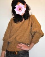800481原单短款蝙蝠袖宽松毛衣-(韓版時尚女裝-www.ef1688.com)