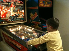 pinball at Fox's house