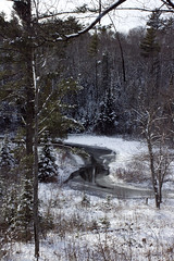 Winter River (IvanTortuga) Tags: winter usa snow ice water mi forest river unitedstates michigan negaunee miim michiganironindustrymuseum