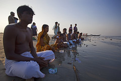 Waiting for holy water (imjuthy) Tags: people color beach festival horizontal canon prayer rush hindu chor mela purnima sundarban lord krishna dublar 5dmarkii imjuthy photobyjuthy