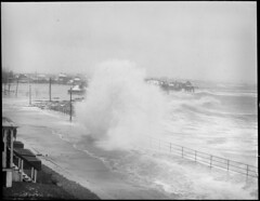Big surf from storm raises havoc at Roughan's Point, Beachmont, Revere (Boston Public Library) Tags: weather storms floods lesliejones