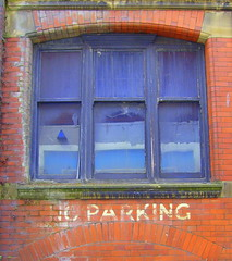 A window on Preston (Tony Worrall Foto) Tags: old uk red england urban brick window glass sign photo woods arch northwest image decay stock lancashire forgotten preston bleak rotten lancs prestonian abandonnded 2011tonyworrall