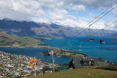 View from the top of the chairlift (Kalabird) Tags: newzealand southisland otago queenstown chairlift bobspeak lakewakitipu