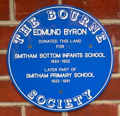 Photo of Edmund Byron blue plaque