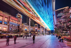 The Digital Aurora Borealis (Stuck in Customs) Tags: china city travel art architecture modern digital mall shopping photography blog video high slick interesting asia commerce republic technology place dynamic stuck unique space beijing engineering screen september east photoblog software aurora future processing stunning metropolis imaging  prc lcd northern range hdr tutorial futuristic trey theplace peking travelblog customs borealis 2010 municipality spaceart technological bijng ratcliff northernchina hdrtutorial stuckincustoms treyratcliff photographyblog peoplesrepublicofchina stuckincustomscom nikond3x
