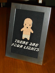 There are four lights (Cassey) Tags: startrek crossstitch geek crafts stitching captainpicard picard