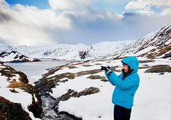 Scenic Snapshot (John & Tina Reid) Tags: autumn snow cold norway vik hiker frozenwater mountainpass traveler mountaintop travelphotography sognfjord jonreid tinareid httpnomadicvisioncom