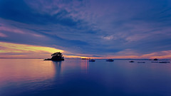 #850C7657- Still waters and moving clouds I (Zoemies...) Tags: sunset beach clouds hdr slowshutterspeed balikpapan melawai zoemies