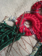 35 (sunshine's creations) Tags: christmas thread work point cord berries lace crochet holly needle romanian