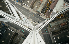 Enter the Dragon (tomms) Tags: toronto reflection look mirror taxi bruce vertigo down lee yongestreet rooftopping