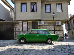 Lada 2101 (MauriceVanGestel Photography) Tags: auto old houses house green classic