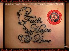 Faith Hope Charity Tattoo Faith hope love lettering