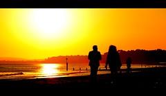 Remember The Summer (Rich Byham) Tags: sunset sea beach silhouette nikon couple d7000