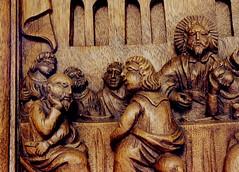 Skalsum, Frysln, pulpit, cena, detail (groenling) Tags: wood netherlands jesus nederland carving nl cena pulpit friesland hout woodcarving lastsupper disciples frysln preekstoel houtsnij