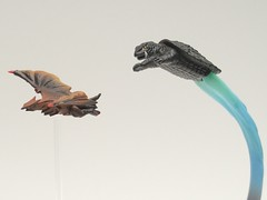 I'mma get you! (Infinite Hollywood) Tags: kaiju gamera gyaos daei revoltech japanesemonsters