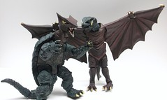 Fun with Revoltech Monsters (Infinite Hollywood) Tags: kaiju gamera gyaos daei revoltech japanesemonsters