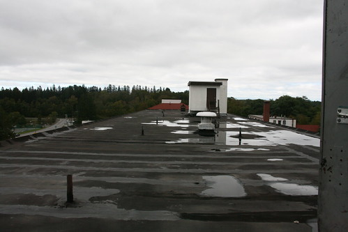 Main building flat roof and elevator machine room