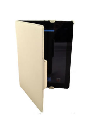 PU Leather UltraSlim Case for iPad 2 - White