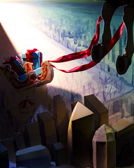Santa's Sled (tobysx70) Tags: street old uk blue red toby london digital canon reindeer flying back cityscape santas legs powershot co bond boxes hancock sled tiffany hind s90 reins canonpowershots90 canons90 tobyhancock