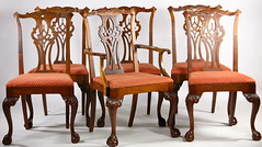 22. Set of (6) Chippendale Style Dining Chairs
