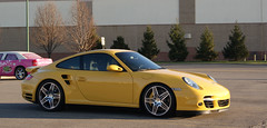 Speed Yellow. (TYI Photos) Tags: columbus ohio car fashion yellow speed mall european place 911 fast s exotic turbo german porsche tt coupe supercar awd polaris 997 tiptronic