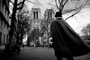 Dans le Vent (Airicsson) Tags: street winter urban blackandwhite bw paris silhouette analog vintage lumix wind bokeh notredame panasonic g3