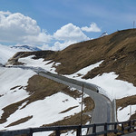 The Fuscher Törl mountain pass at the High Alpine road